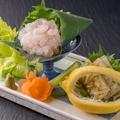 【部屋食】 白エビお造り・サイコロステーキ・黒部フォンデュの3品の中から1品チョイス!